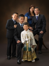 七五三,家族写真