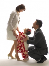 七五三,家族写真,女の子