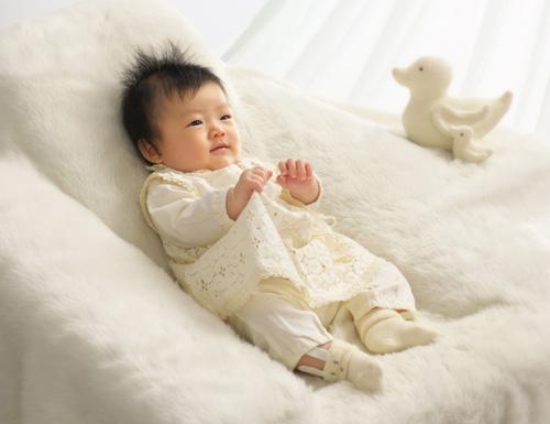 お宮参り,赤ちゃん,洋服