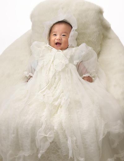 お宮参り,赤ちゃん,ベビードレス